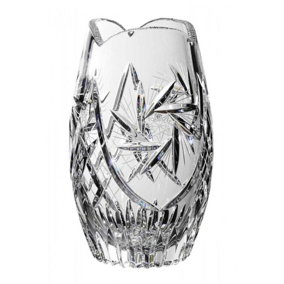 Victoria * Ólomkristály Hordó váza 18 cm (Tur11120)