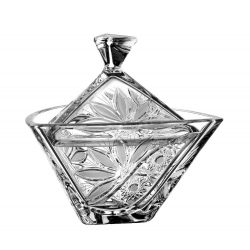 Liliom * Kristall Bonbonniere 18 cm (Tri17563)