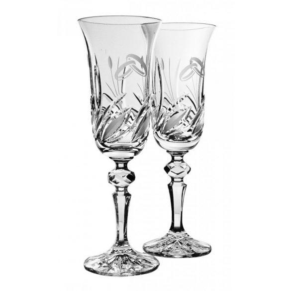 Viola * Kristall Crystal esküvőre (2 db) (17998)