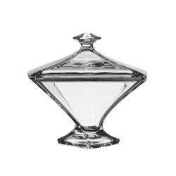 Quad * Kristall Bonbonniere 22,5 cm (Quad39823)